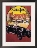 France - Peugeot Automobile Promotional Poster Art
