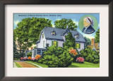 Hartford, Connecticut - Exterior View of Harriet Beecher Stowe&#39;s Residence Prints