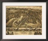 Essex, Connecticut - Panoramic Map Print