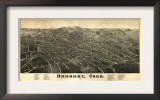 Danbury, Connecticut - Panoramic Map Posters