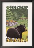 Black Bear in Forest, Cordova, Alaska Prints