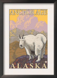 Mountain Goat, Anchorage, Alaska Art