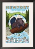 Beaver & River, Newport, Oregon Prints