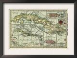 Cuba - Panoramic Map Art