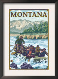 White Water Rafting, Montana Prints