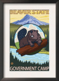 Beaver & Mt. Hood, Government Camp, Oregon Prints