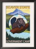 Beaver & Mt. Hood, Government Camp, Oregon Prints