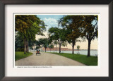 Bridgeport, Connecticut - Seaside Park Drive View Showing Locomobile Company Poster