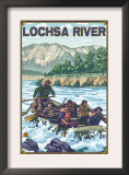 White Water Rafting, Lochsa River, Idaho Prints