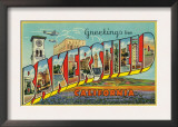 Bakersfield, California - Large Letter Scenes Art