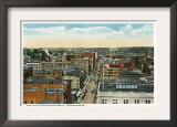 Bridgeport, Connecticut - Northern Aerial View of Main Street Posters