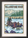 White Water Rafting, Yellowstone River, Montana Prints