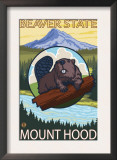 Beaver & Mt. Hood, Oregon Prints