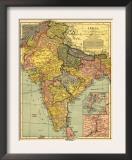 India - Panoramic Map Prints