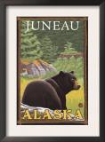 Black Bear in Forest, Juneau, Alaska Art
