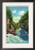 Ithaca, New York - View of Fall Creek Gorge Print