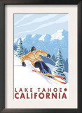 Downhhill Snow Skier, Lake Tahoe, California Print