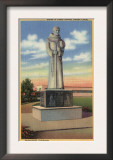 Bakersfield, California - Statue of Padre Garces in Garces Circle Posters