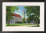 Ithaca, New York - Exterior View of Boardman Hall and the Library Art