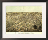 Belleville, Illinois - Panoramic Map Art