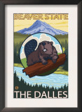 Beaver & Mt. Hood, The Dalles, Oregon Art