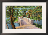 Bridgeport, Connecticut - Beardsley Park View of the Stone Bridge Poster