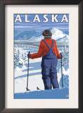 Skiing in Alaska Prints