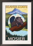 Beaver & Mt. Hood, Mosier, Oregon Posters