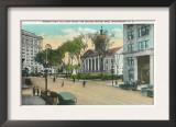 Binghamton, New York - Exterior View of Court House Poster