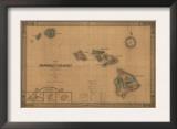 Hawaii - Panoramic State Map Prints