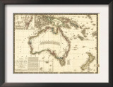 Australia - Panoramic Map Prints