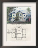 Villa in the Roman Style Print by Richard Brown