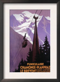 Chamonix-Mont Blanc, France - Funicular Railway to Brevent Mt. Prints