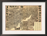 Norwalk, Connecticut - Panoramic Map Print