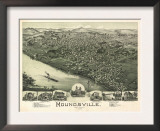 Moundsville, West Virginia - Panoramic Map Prints