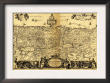 Palestine - Panoramic Map Print