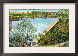 Bridgeport, Connecticut - Beardsley Park Water Falls Scene Prints