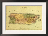 Puerto Rico - Panoramic Map Prints