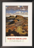 Northumberland, England - Hadrian's Wall and Sheep British Rail Poster Print