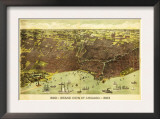Chicago, Illinois - Panoramic Map No. 1 Posters