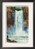 Ithaca, New York - View of Taughannock Falls from the Bottom Poster