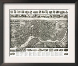 Norwalk, Connecticut - Panoramic Map Prints