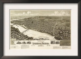 Laredo, Texas - Panoramic Map Posters