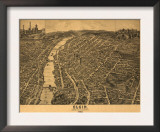 Elgin, Illinois - Panoramic Map Prints
