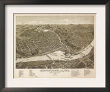 Chippewa Falls, Wisconsin - Panoramic Map Print