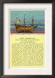 Plymouth, Massachusetts - Mayflower Model, the Compact in Plymouth Hall Scene Poster