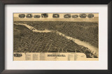 Rockford, Illinois - Panoramic Map Prints