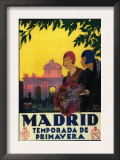Madrid, Spain - Madrid in Springtime Travel Promotional Poster Poster