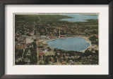 Lakeland, Florida - Aerial City View Showing Lakes Poster