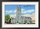 New Haven, CT - Yale U View of Sheffield, Strathcona Halls and Sterling Tower Prints
